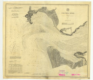 Columbia River Sheet 1 1885 - Old Map Nautical Chart PC Harbors 640 - Oregon