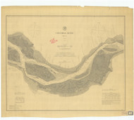 Columbia River Sheet 2 1878 - Old Map Nautical Chart PC Harbors 641 - Oregon