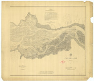 Columbia River Sheet 2 1879 A - Old Map Nautical Chart PC Harbors 641 - Oregon