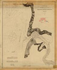 Yaquinna River Entrance 1868 - Old Map Nautical Chart PC Harbors 664 - Oregon