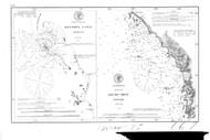 Hunter's Cove & Mack's Reef 1875 BW - Old Map Nautical Chart PC Harbors 667 - Oregon