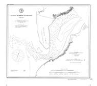 Alseya Harbor Entrance 1891 BW - Old Map Nautical Chart PC Harbors 691 - Oregon