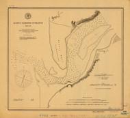 Alseya Harbor Entrance 1891 - Old Map Nautical Chart PC Harbors 691 - Oregon