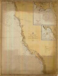 Pyramid Point and Cape Sebastian 1931 - Old Map Nautical Chart PC Harbors 5896 - Oregon