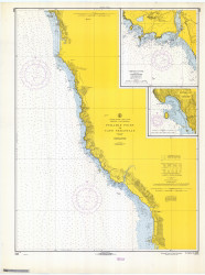 Pyramid Point and Cape Sebastian 1968 - Old Map Nautical Chart PC Harbors 5896 - Oregon