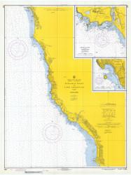 Pyramid Point and Cape Sebastian 1971 - Old Map Nautical Chart PC Harbors 5896 - Oregon