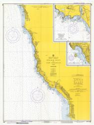 Pyramid Point and Cape Sebastian 1974 - Old Map Nautical Chart PC Harbors 5896 - Oregon