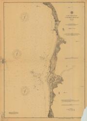 Cape Sebastian to Humbug Mountain 1893 - Old Map Nautical Chart PC Harbors 5951 - Oregon