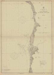Cape Sebastian to Humbug Mountain 1920 - Old Map Nautical Chart PC Harbors 5951 - Oregon