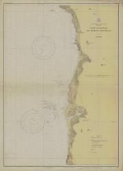 Cape Sebastian to Humbug Mountain 1930 - Old Map Nautical Chart PC Harbors 5951 - Oregon
