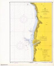Cape Sebastian to Humbug Mountain 1969 - Old Map Nautical Chart PC Harbors 5951 - Oregon