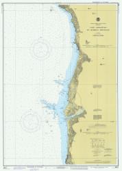Cape Sebastian to Humbug Mountain 1977 - Old Map Nautical Chart PC Harbors 5951 - Oregon