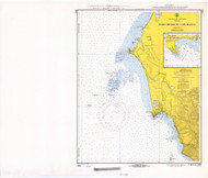 Port Oxford to Cape Blanco 1967 - Old Map Nautical Chart PC Harbors 5952 - Oregon