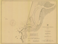 Coquille River Entrance 1888 - Old Map Nautical Chart PC Harbors 5971 - Oregon