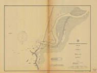 Coquille River Entrance 1905 - Old Map Nautical Chart PC Harbors 5971 - Oregon