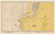 Coquille River Entrance 1945 - Old Map Nautical Chart PC Harbors 5971 - Oregon