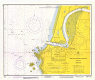 Coquille River Entrance 1971 - Old Map Nautical Chart PC Harbors 5971 - Oregon