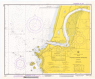 Coquille River Entrance 1973 - Old Map Nautical Chart PC Harbors 5971 - Oregon