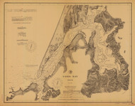 Coos Bay 1895 - Old Map Nautical Chart PC Harbors 5984 - Oregon