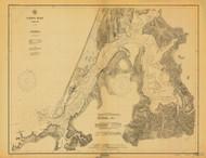 Coos Bay 1904 - Old Map Nautical Chart PC Harbors 5984 - Oregon