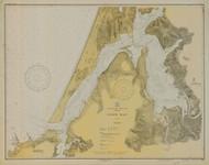 Coos Bay 1930 - Old Map Nautical Chart PC Harbors 5984 - Oregon
