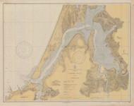 Coos Bay 1936 - Old Map Nautical Chart PC Harbors 5984 - Oregon