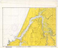 Coos Bay 1967 - Old Map Nautical Chart PC Harbors 5984 - Oregon