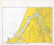 Coos Bay 1970 - Old Map Nautical Chart PC Harbors 5984 - Oregon