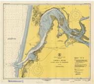 Umpqua River 1948 - Old Map Nautical Chart PC Harbors 6004 - Oregon