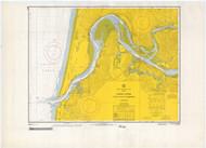 Umpqua River 1966 - Old Map Nautical Chart PC Harbors 6004 - Oregon