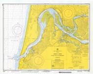 Umpqua River 1970 - Old Map Nautical Chart PC Harbors 6004 - Oregon