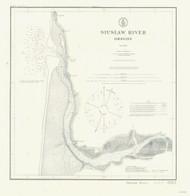 Siuslaw River 1909 - Old Map Nautical Chart PC Harbors 6023 - Oregon