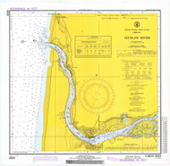 Siuslaw River 1972 - Old Map Nautical Chart PC Harbors 6023 - Oregon