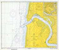 Yaquina Bay and River 1971 - Old Map Nautical Chart PC Harbors 6055 - Oregon