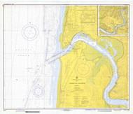 Yaquina Bay and River 1973 - Old Map Nautical Chart PC Harbors 6055 - Oregon
