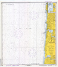Approaches to Yaquina Bay 1972 - Old Map Nautical Chart PC Harbors 6056 - Oregon