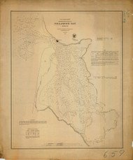 Tillamook Bay 1867 - Old Map Nautical Chart PC Harbors 6112 - Oregon