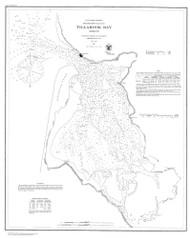 Tillamook Bay 1867 BW B - Old Map Nautical Chart PC Harbors 6112 - Oregon