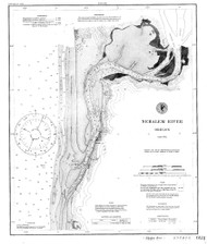Nehalem River 1891 - Old Map Nautical Chart PC Harbors 6122 - Oregon