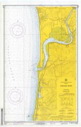 Nehalem River 1970 - Old Map Nautical Chart PC Harbors 6122 - Oregon
