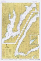 Hood Canal to Dabob Bay 1984 - Old Map Nautical Chart PC Harbors 18473 - Washington