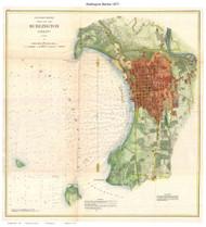 Burlington Harbor - 1872 Nautical Chart