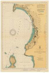 Burlington Harbor - 1930 Nautical Chart