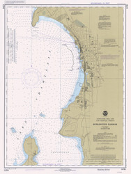 Burlington Harbor - 1981 Nautical Chart