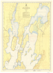 Lake Champlain, Sheet 1 - 1956 Nautical Chart