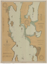 Lake Champlain, Sheet 2 - 1914 Nautical Chart