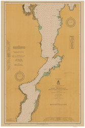 Lake Champlain, Sheet 3 - 1914 Nautical Chart