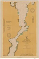 Lake Champlain, Sheet 3 - 1914 Nautical Chart
