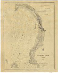 Burlington Harbor - 1884 Nautical Chart