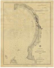 Burlington Harbor - 1884 Nautical Chart